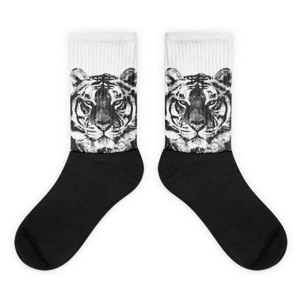 Grunge Tiger Black foot socks