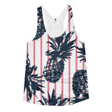 All over print - Pineapple stripes Women's Racerback Tank - Hutsylife - 1