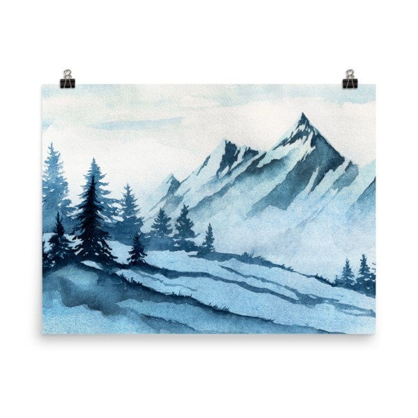 Watercolor mountain Poster - Hutsylife - 6