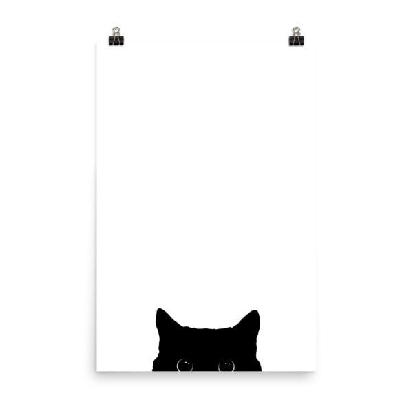 Peeking cat Poster - Hutsylife - 8