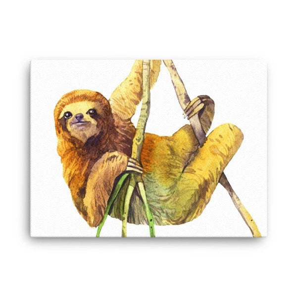 Watercolor Sloth Canvas - Hutsylife - 3
