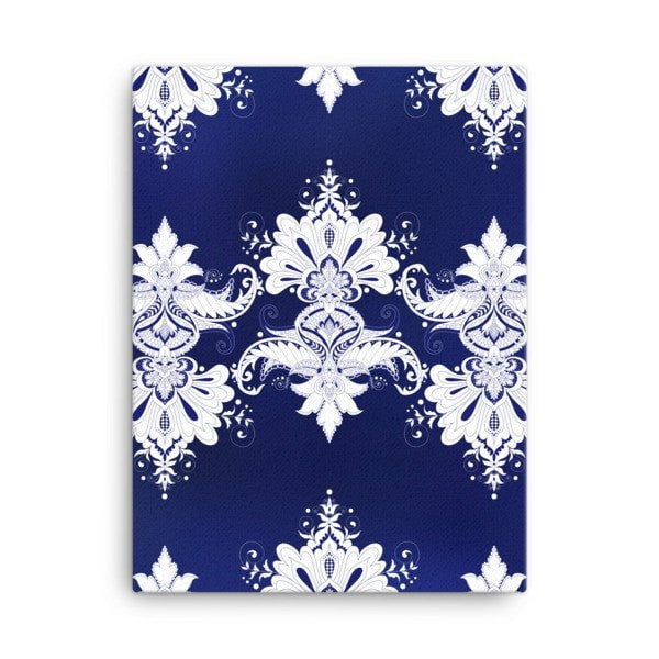 Blue & white flow Canvas - Hutsylife - 3