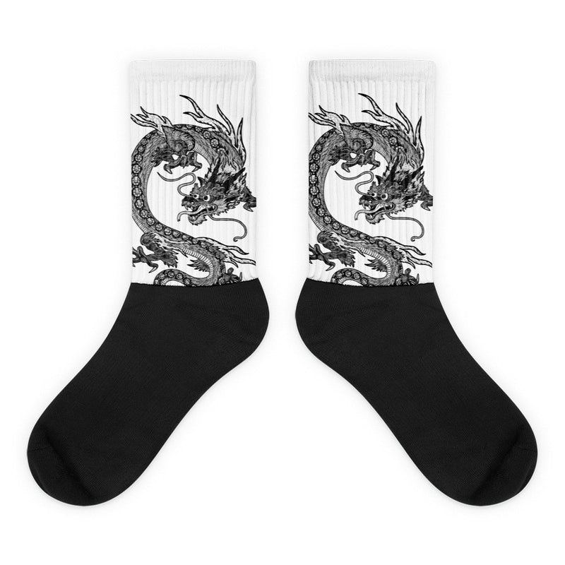 Dragon's Tail Black foot socks