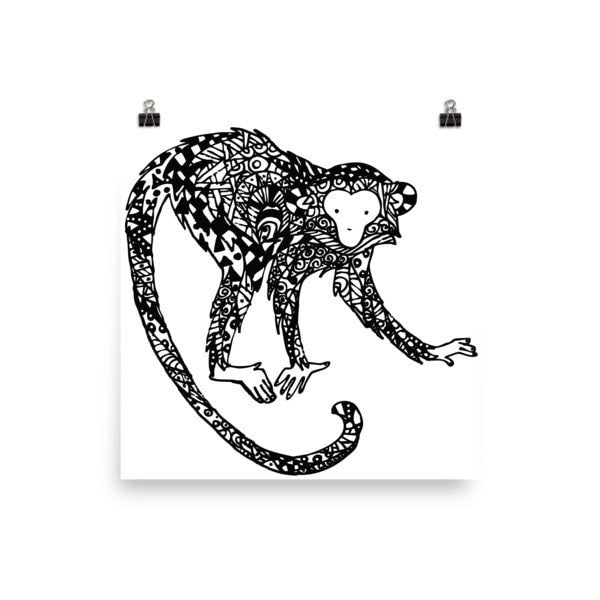 Curious monkey Poster - Hutsylife - 1
