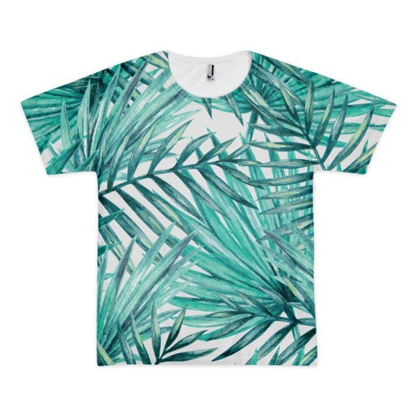 All over print - Tropical Hidden leaf Short sleeve men's t-shirt - Hutsylife - 1
