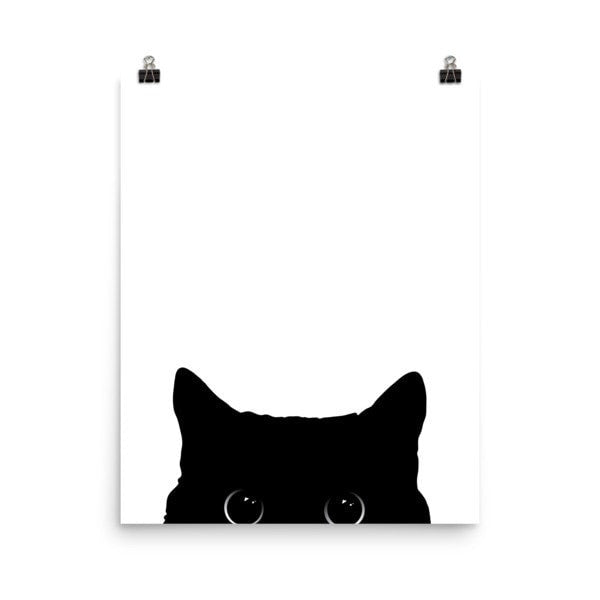 Peeking cat Poster - Hutsylife - 9