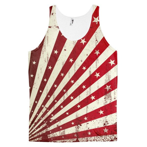 All over print - Shining star Classic fit men's tank top - Hutsylife - 1