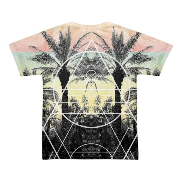 All over print - Palm Reflection Short sleeve men's t-shirt - Hutsylife - 2