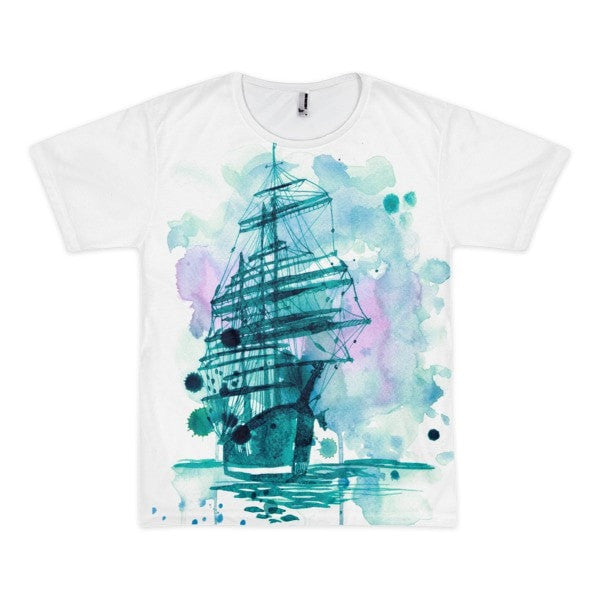 Wandering ship Short sleeve men's t-shirt - Hutsylife