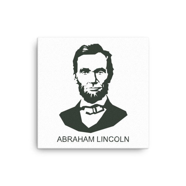 Lincoln  Abraham Canvas - Hutsylife - 1