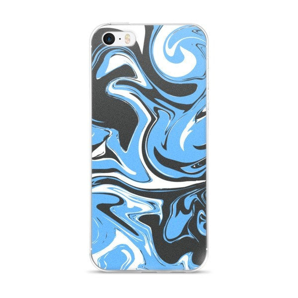 Blue marble swirl iPhone case - Hutsylife - 1