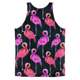 All over print - Pink flamingo Classic fit men's tank top - Hutsylife - 2