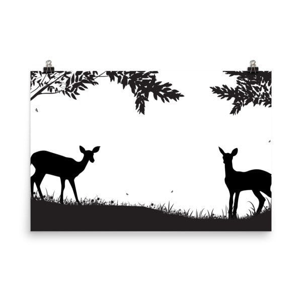Lookout Deer Poster - Hutsylife - 5
