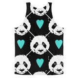 All over print -Heart Panda Classic fit men's tank top - Hutsylife - 2