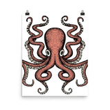 Red Octo Poster - Hutsylife - 7