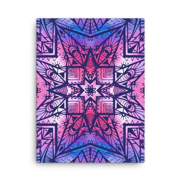 Purple geometric Canvas - Hutsylife - 3