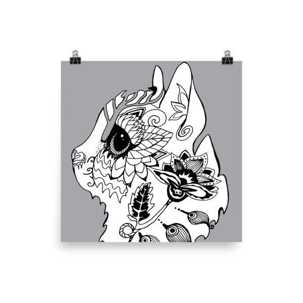 Flower cat Poster - Hutsylife - 2