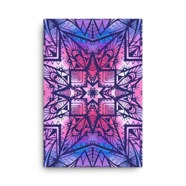 Purple geometric Canvas - Hutsylife - 4