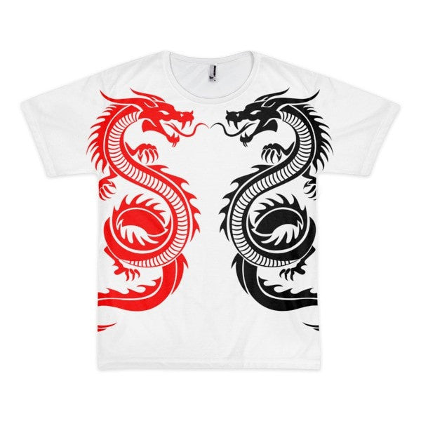 Twin dragon Short sleeve men's t-shirt - Hutsylife