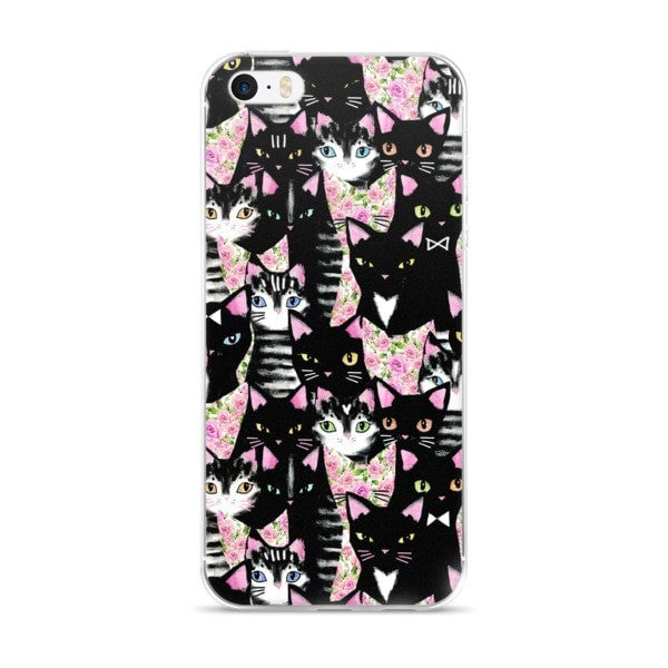 Cat collage iPhone case - Hutsylife - 1