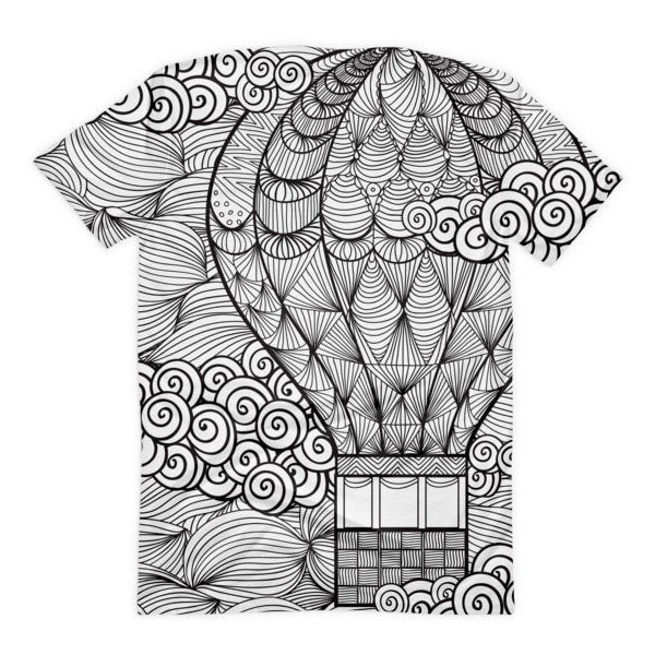 All over print - Hot air Balloon Women's sublimation t-shirt - Hutsylife - 2