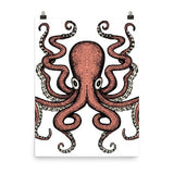 Red Octo Poster - Hutsylife - 6