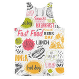 All over print - Food love Classic fit men's tank top - Hutsylife - 2
