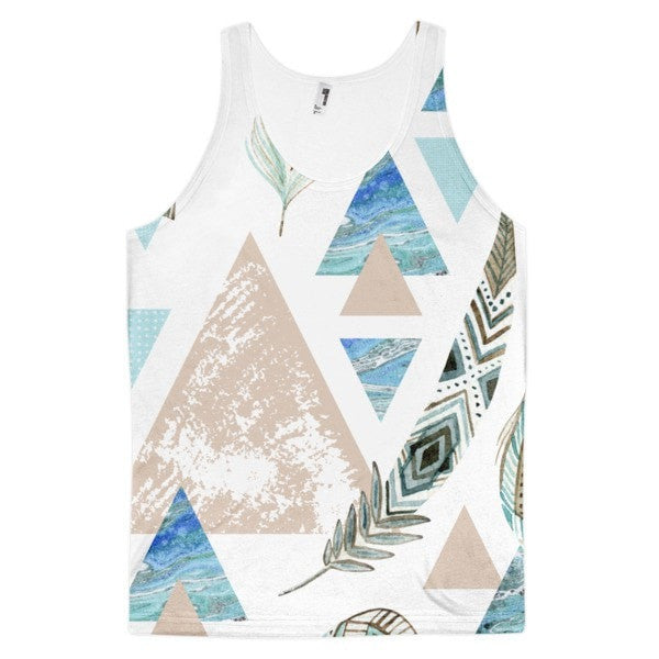 All over print - Geometric 80's grunge Classic fit men's tank top - Hutsylife - 1