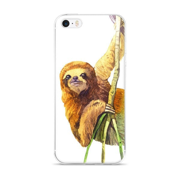 Watercolor sloth iPhone case