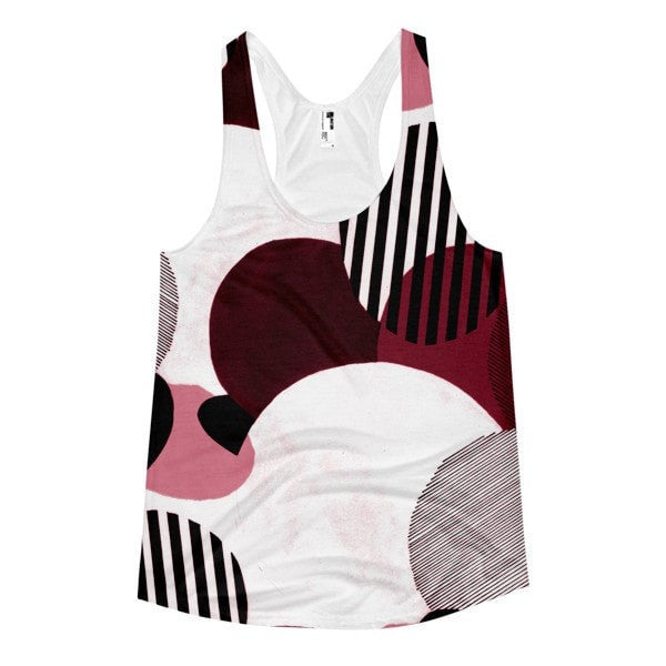 All over print - Minimalist Women's racerback tank - Hutsylife - 1