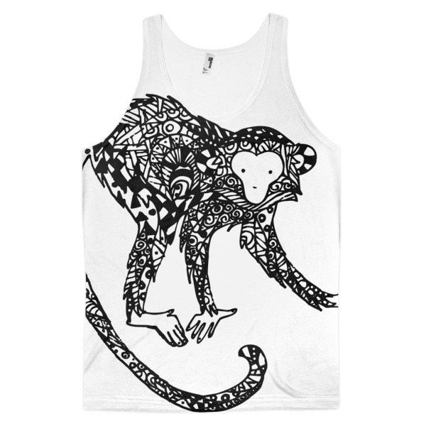 Curious monkey Classic fit men's tank top - Hutsylife
