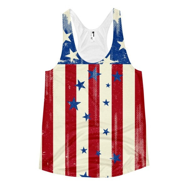 All over print - Patriot Rain Women's Racerback Tank - Hutsylife - 1