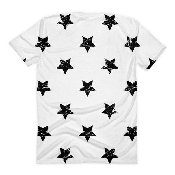 All over print - White star Women's Sublimation T-Shirt - Hutsylife - 2