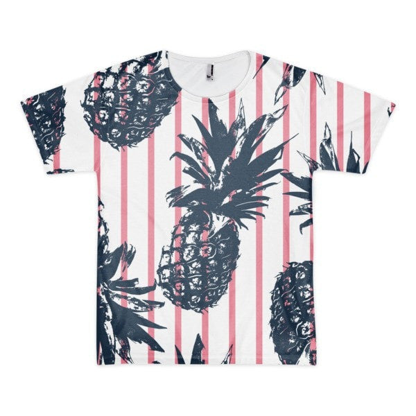All over print - Pineapple stripes Short sleeve men's t-shirt - Hutsylife - 1