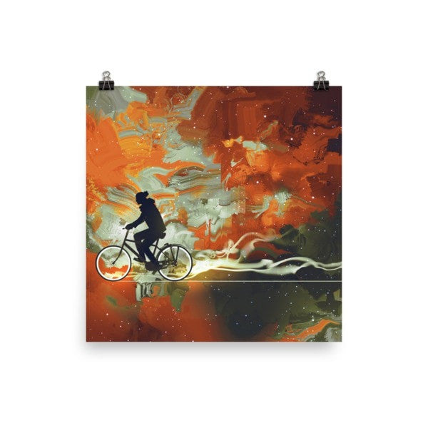 Bicycle man Poster - Hutsylife - 2