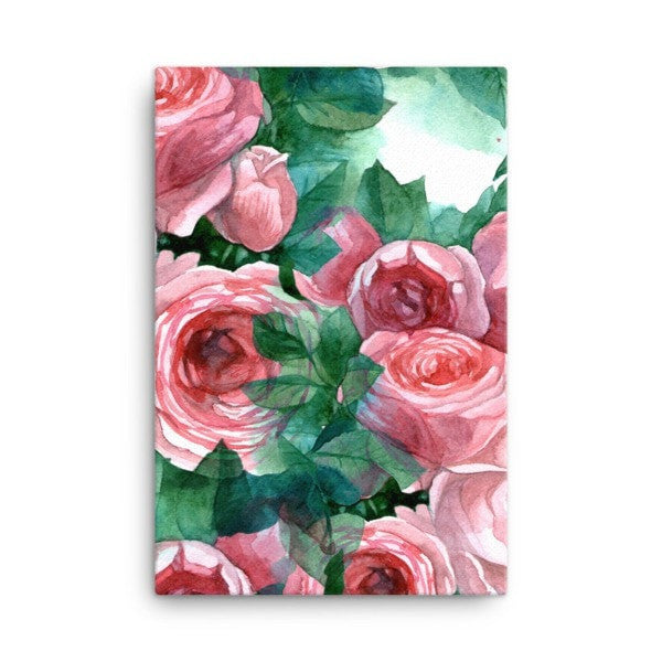 Pink rose Canvas - Hutsylife - 4