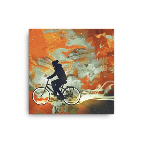 Bicycle man Canvas