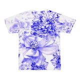 All over print - Indigo floral Short sleeve men's t-shirt - Hutsylife - 2