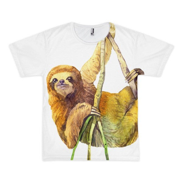 Watercolor sloth Short sleeve men's t-shirt - Hutsylife