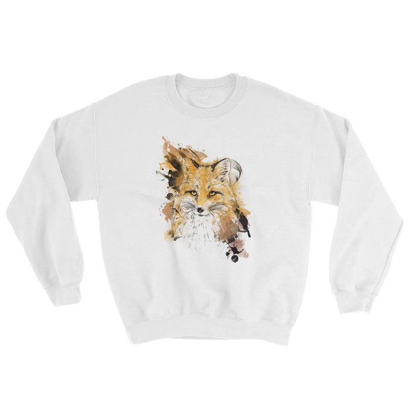 Watercolor Fox Crewneck