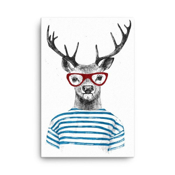 Deer stripes Canvas - Hutsylife - 3