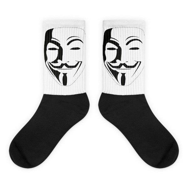 Anon white Black foot socks