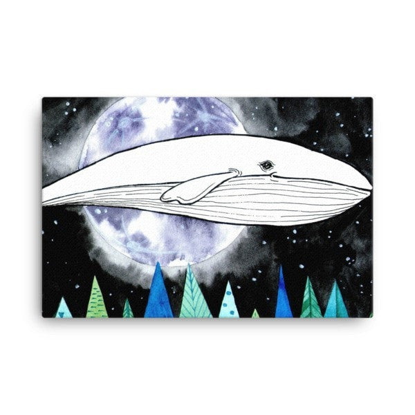 Lost whale Canvas - Hutsylife - 4