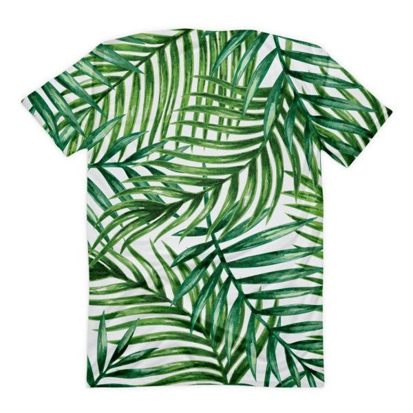 All over print - Tropical leaves Women's Sublimation T-Shirt - Hutsylife - 2