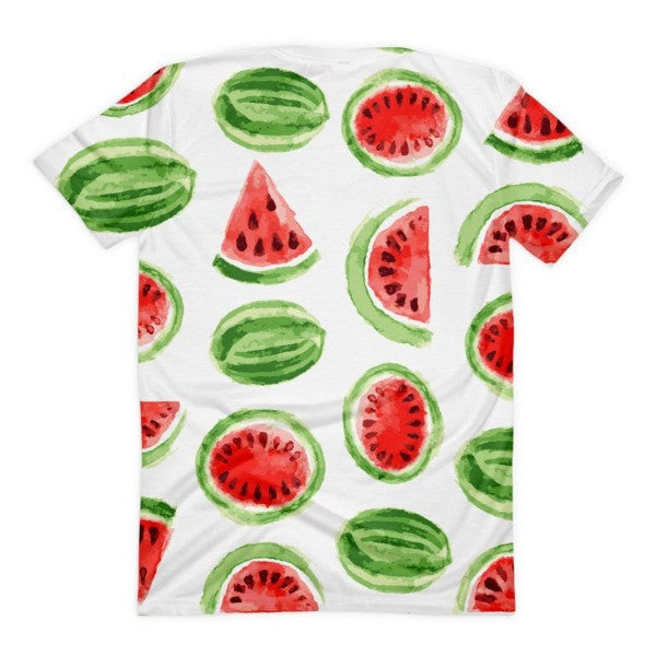 All over print - Watermelon Women's Sublimation T-Shirt - Hutsylife - 2