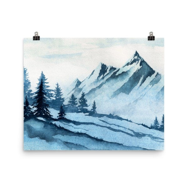 Watercolor mountain Poster - Hutsylife - 8
