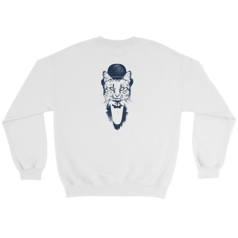 Hutsylife Crew - Cat Gentleman (Back print)
