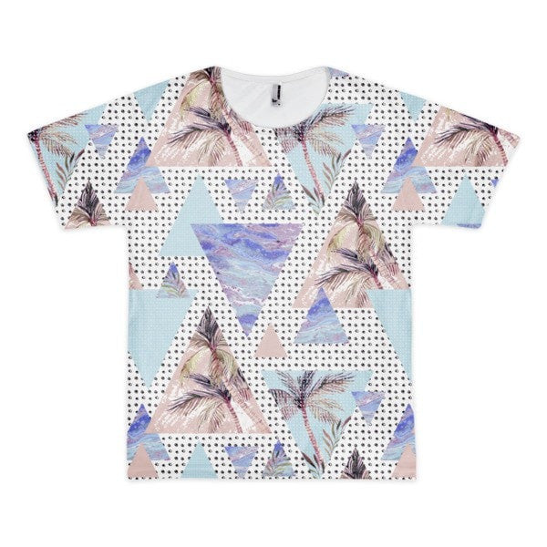 All over print - Summer geometric Short sleeve men's t-shirt - Hutsylife - 1