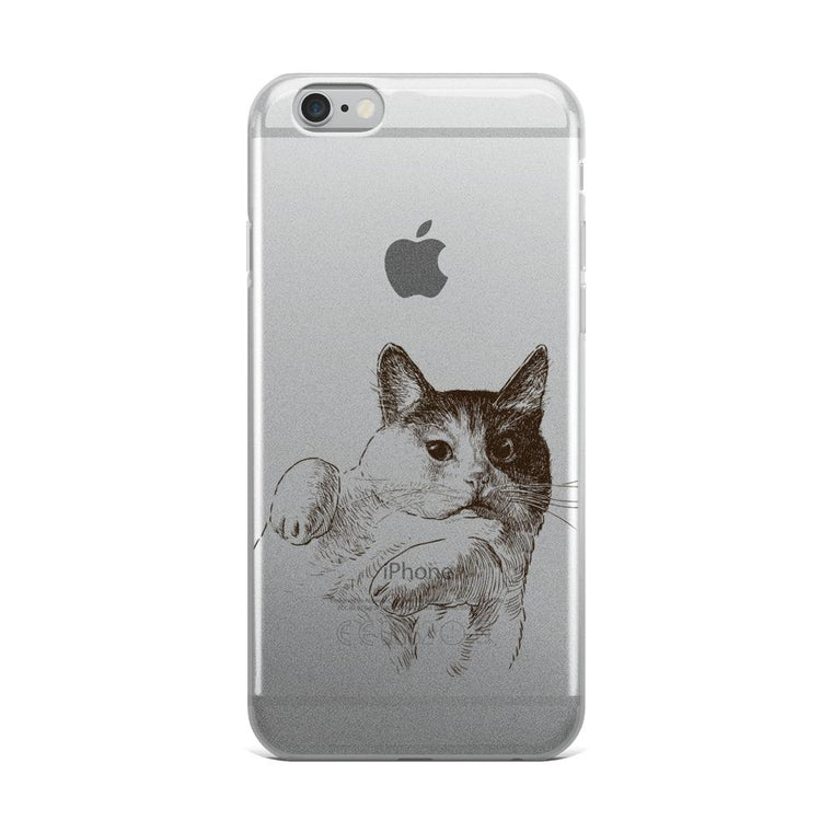 Cat Pawz iPhone Case (Transparent)