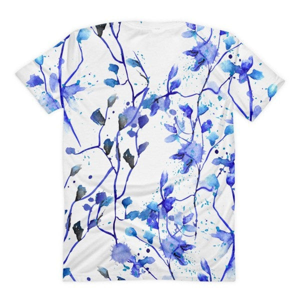 All over print - Blue vine Women's sublimation t-shirt - Hutsylife - 2